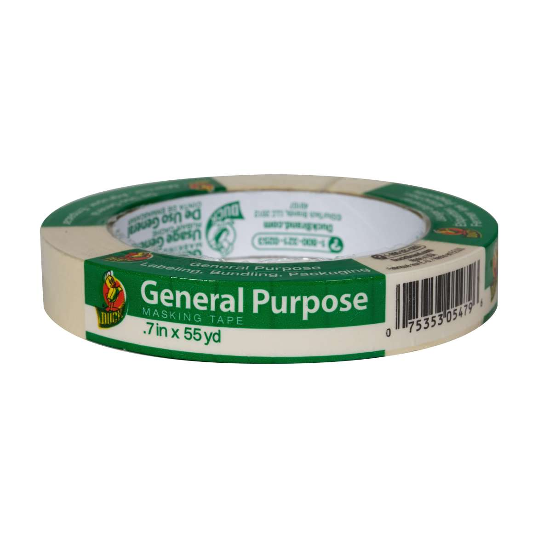 Duck® Brand General Purpose Masking Tape - Beige, .7 in. x 55 yd. Image