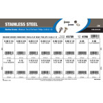 Stainless Steel Pan & Flat Phillips Mini Machine Screws Assortment (#0-80 & #1-72 Thread)
