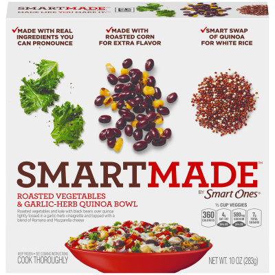 Smart Ones Smart Made Roasted Vegetables & Garlic-Herb Quinoa Bowl 10 oz Box