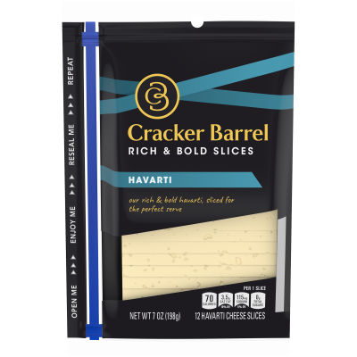 Cracker Barrel Havarti Cheese 12 slices - 7 oz
