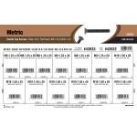 Class 10.9 Metric Flat-Head Socket Cap Screws Assortment (M8-1.25 & M10-1.50 Thread)