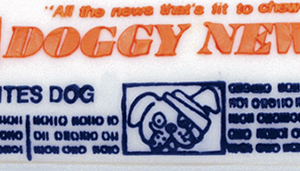 "Rascals 6.5"" Vinyl Doggie Newspaper Dog Toy"
