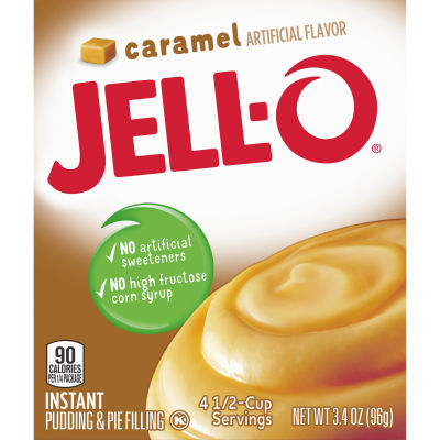 Jell-O Caramel Instant Pudding 3.4 oz Box