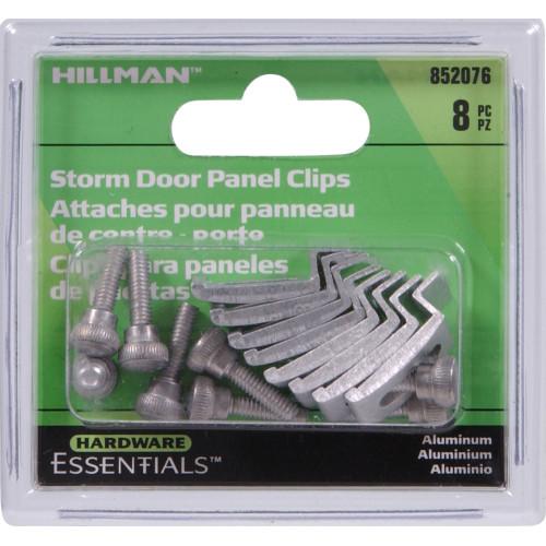 Silver Storm Door Panel Clips