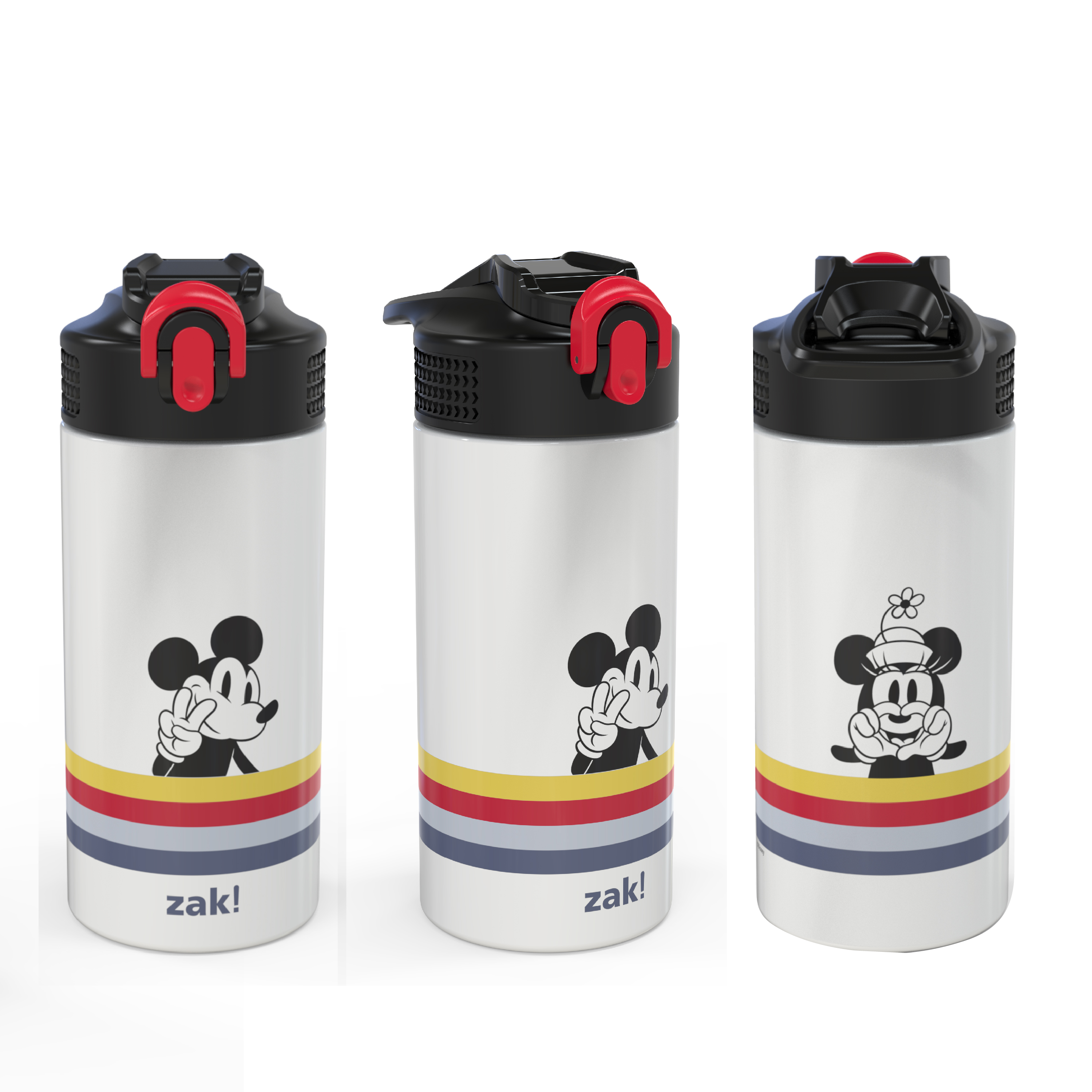 Disney 14 ounce Stainless Steel Vacuum Insulated Water Bottle, Mickey Mouse and Minnie Mouse slideshow image 7