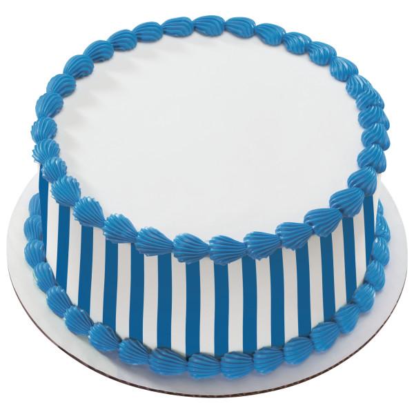 Nautical Blue Stripes PhotoCake® Edible Image® Strips