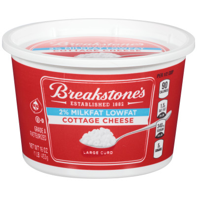 Breakstone's Large Curd 2% Milkfat Cottage Cheese 16 oz Cup