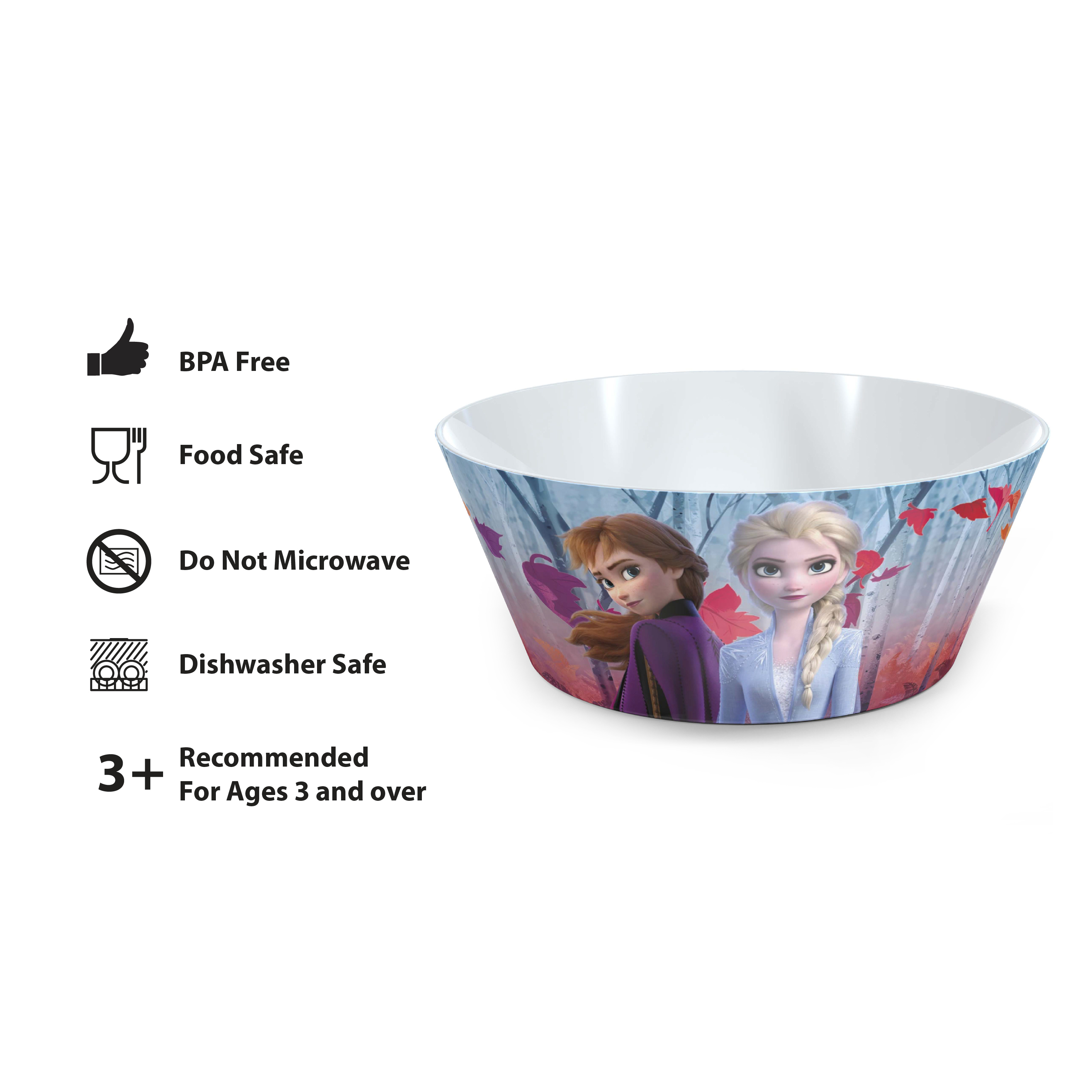 Disney Frozen 2 Movie Dinnerware Set, Anna and Elsa, 5-piece set slideshow image 2