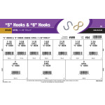 "S Hooks & ""8"" Hooks Assortment (1-1/8"" Thru 3"")"