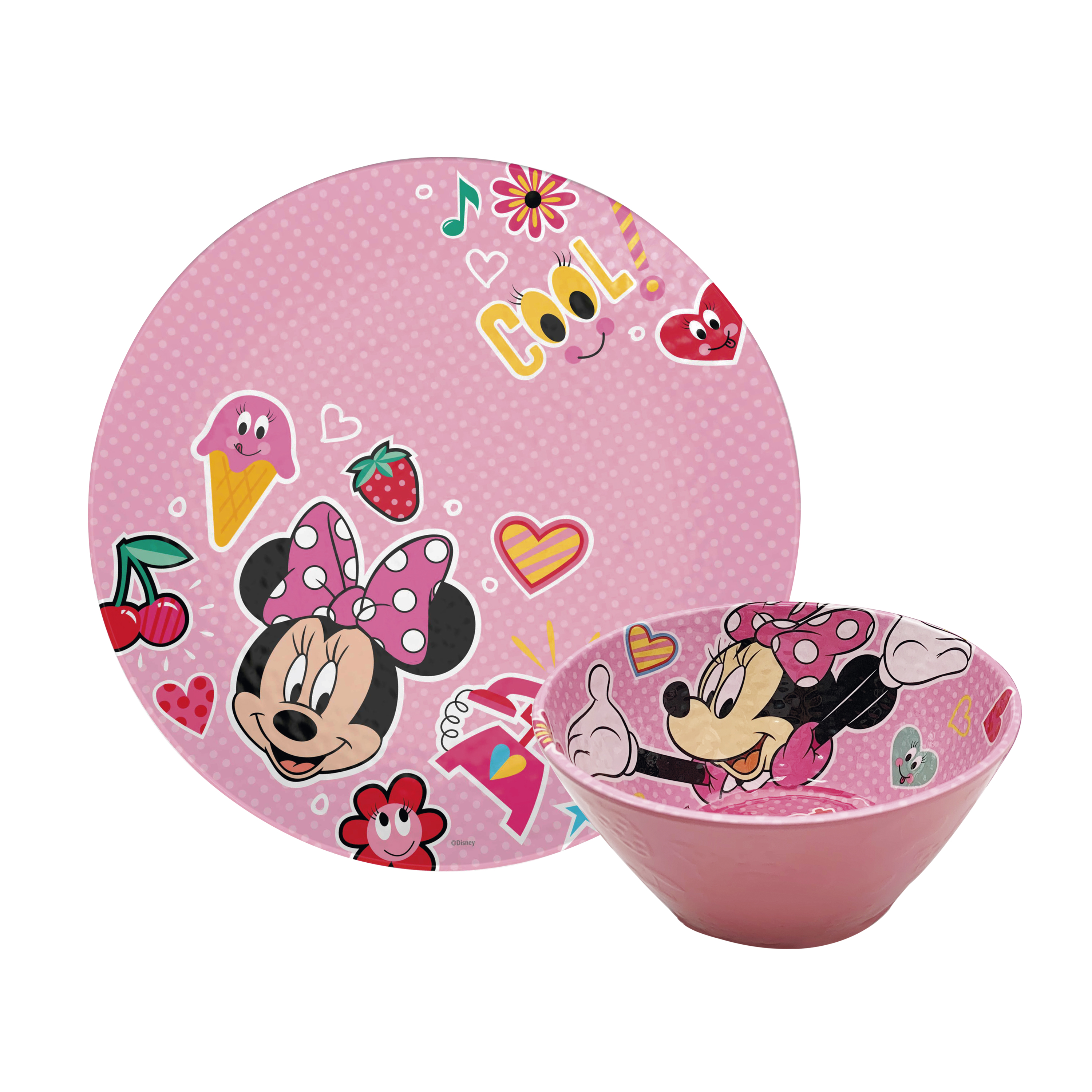 Disney Kids 9-inch Plate and 6-inch Bowl Set, Minnie Mouse, 2-piece set slideshow image 1