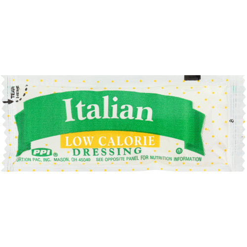PPI Single Serve Low Calorie Italian Dressing, 12 gr. Pouches (Pack of 200)