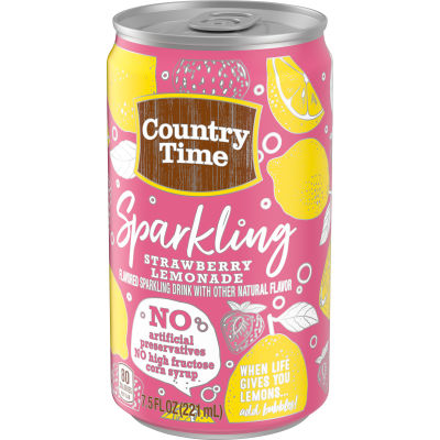 Country Time Strawberry Lemonade Drink Mix 7.5 fl oz Can