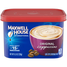 Maxwell House International Original Cappuccino Beverage Mix, 8.3 oz Canister