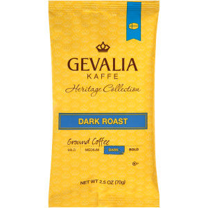 GEVALIA Dark Roast Coffee, 2.5 oz. Bag (Pack of 24) image