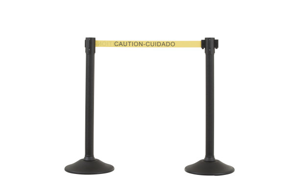 Sentry Stanchion - Black with CAU belt 1