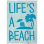 """Aluminum Life's A Beach Sign 10"""" x 14"""""""