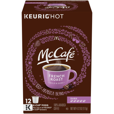 McCafe French Roast Coffee K-Cup Pods 12 count Box