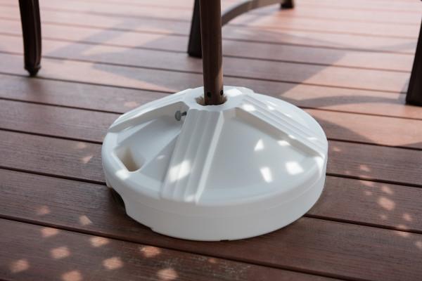 Empty Patio Table Umbrella Base - White 6