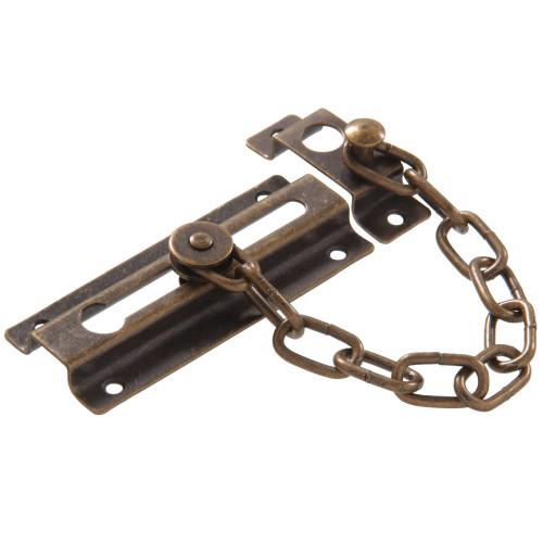 Hardware Essentials Door Chains Antique Brass