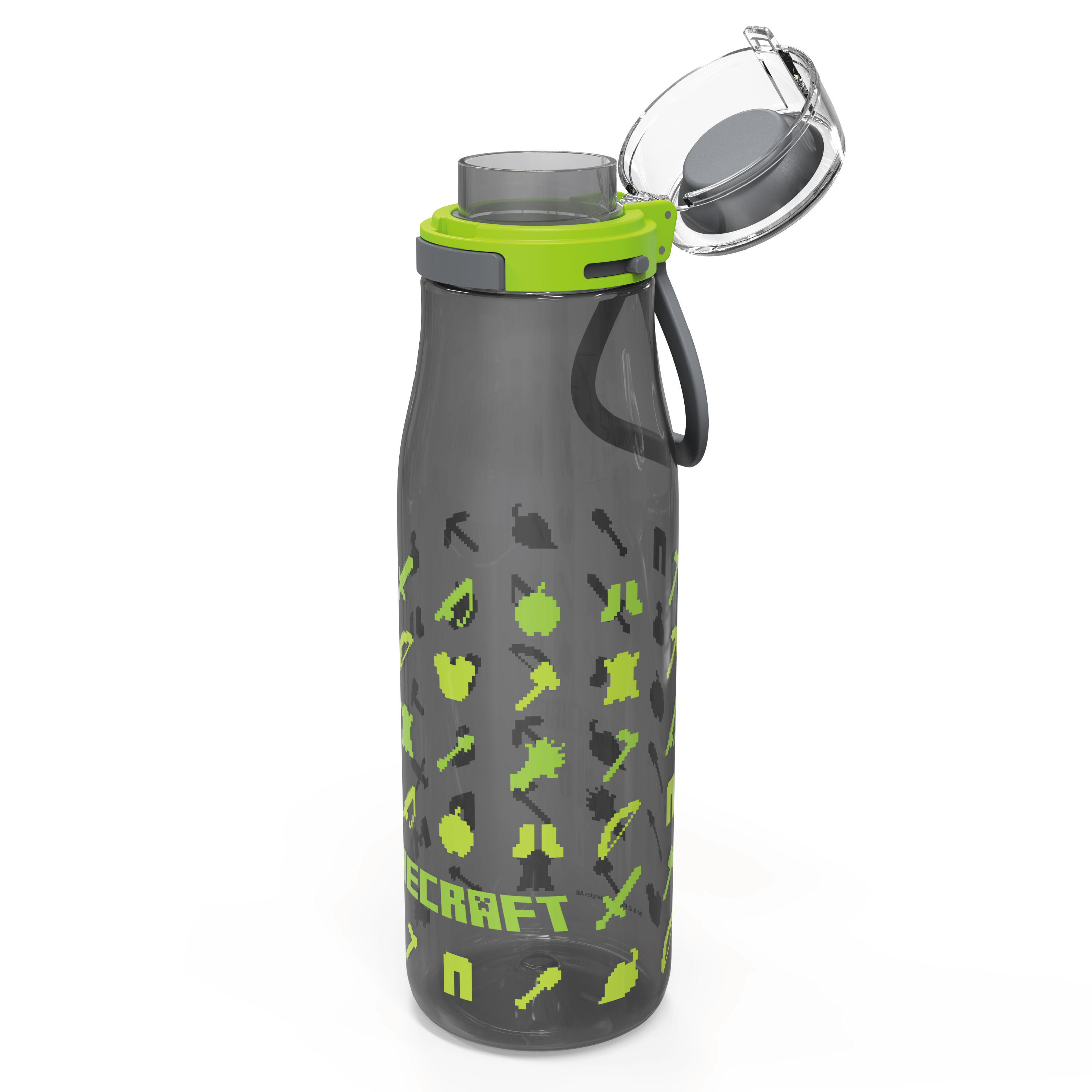 Minecraft 25 ounce Water Bottle and Straws, Weapons and Tools, 3-piece set slideshow image 3