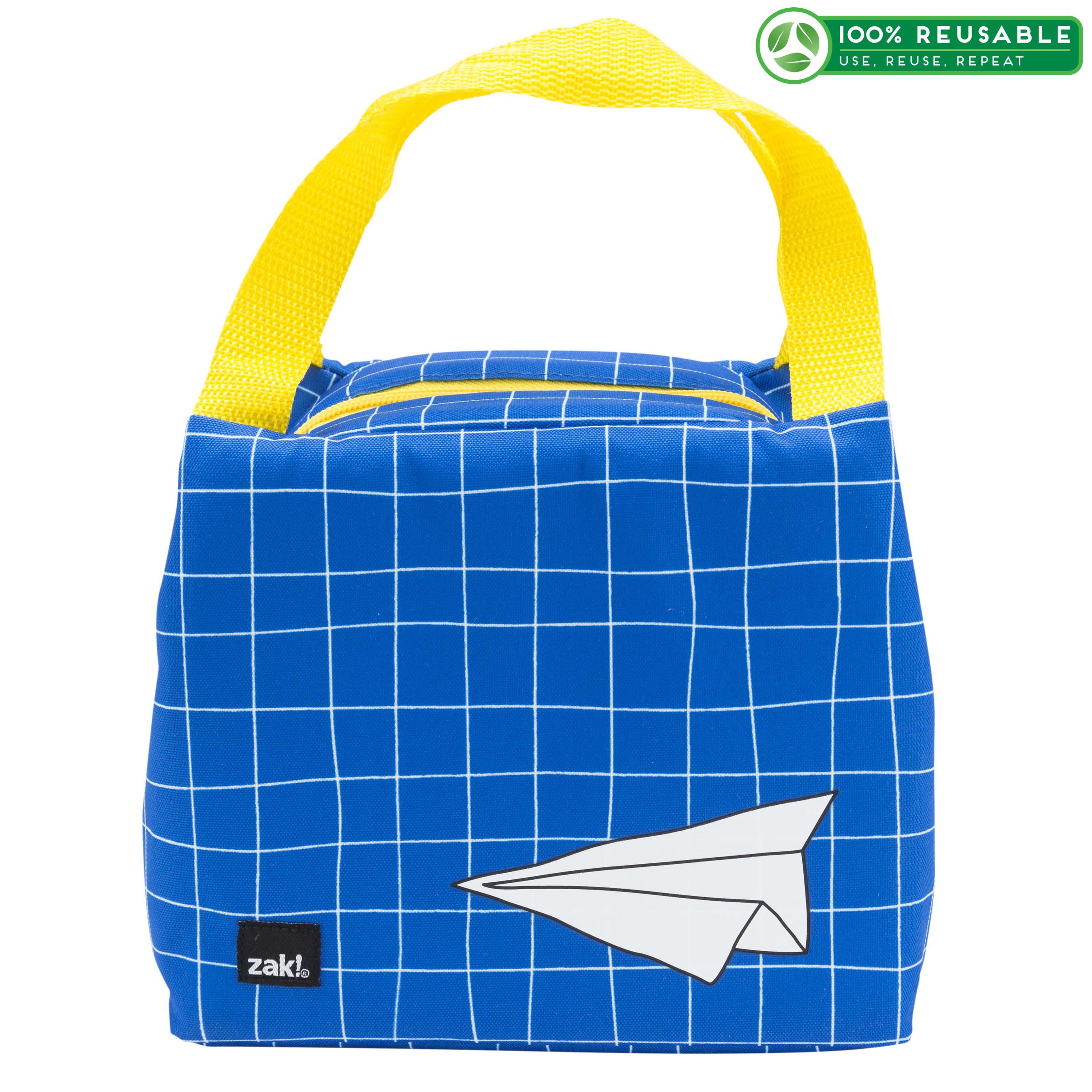 Grid Lock Purse Style Insulated Reusable Lunch Bag, Planes slideshow image 1