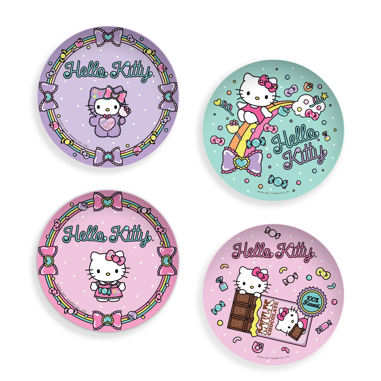 Sanrio 6-inch Appetizer Plate, Hello Kitty, 4-piece set slideshow image 1
