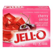 Jell-O Cherry Jelly Powder, Gelatin Mix