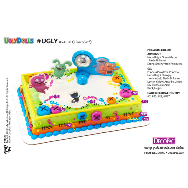 UglyDolls #Ugly Cake Decorating Instruction Card