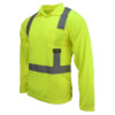 Radians ST22 Class 2 High Visibility Safety Long Sleeve Polo