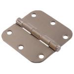 """Hardware Essentials 5/8"""" Round Corner Satin Nickel Door Hinges (3-1/2"""")"""
