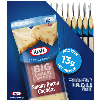 Kraft Smoky Bacon Cheddar Big Cheese Snack 14 - 2 oz Box