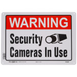 "Warning Security Camera in Use Sign (10"" x 14"")"