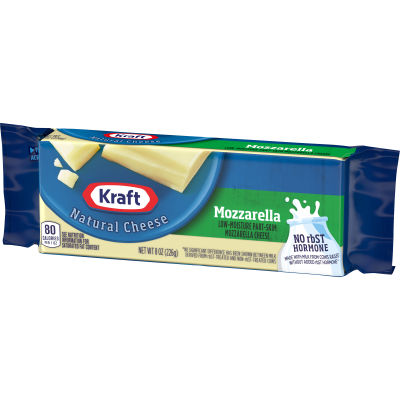 Kraft Mozzarella Low-Moisture Part-Skim Cheese 8 oz Wrapper