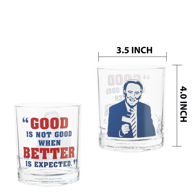 Zak Hydration 14.5 ounce Double Old Fashion Glass, Vin Scully, 4-piece set slideshow image 7