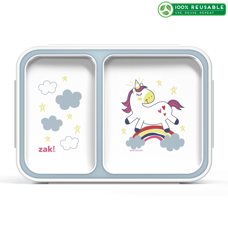 Happy Things Dual-compartment Reusable Bento Box, Unicorns slideshow image 1