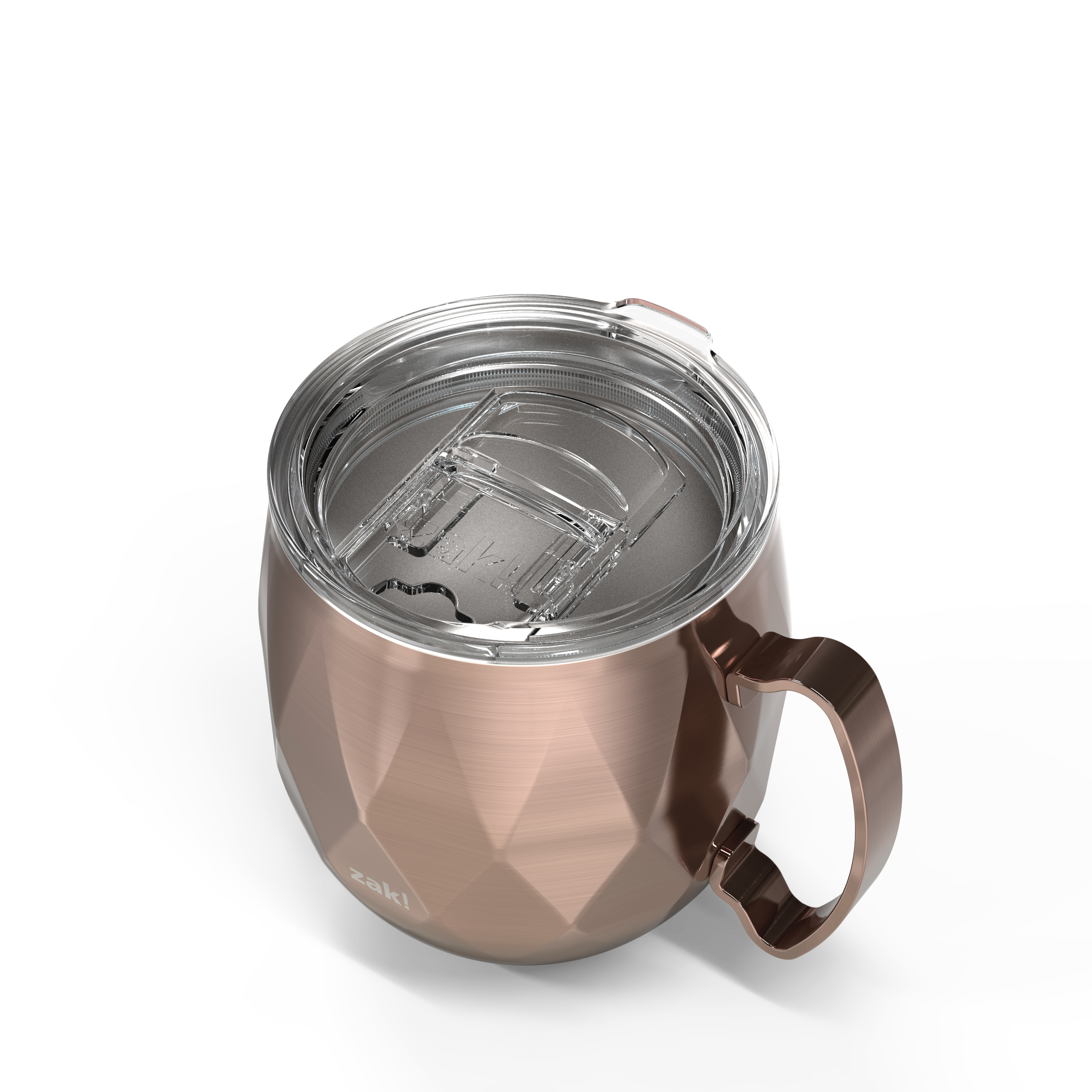 Fractal 19 ounce Vacuum Insulated Stainless Steel Mule Mug, Rose Gold slideshow image 4