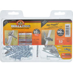 WALLDOG Screw & Anchor In One! Drill Toggle Kit