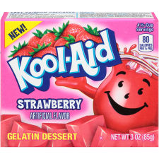 Kool-Aid Strawberry Gelatin 3 oz Box