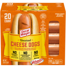 Oscar Mayer Uncured Velveeta Cheese Dogs 32 oz Box