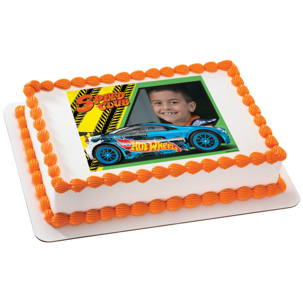 Hot Wheels™ Driven to Thrill PhotoCake® Edible Image® Frame