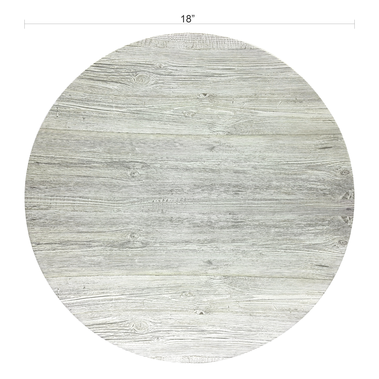 Island Drift 18-inch Round Serving Tray, Gray slideshow image 2