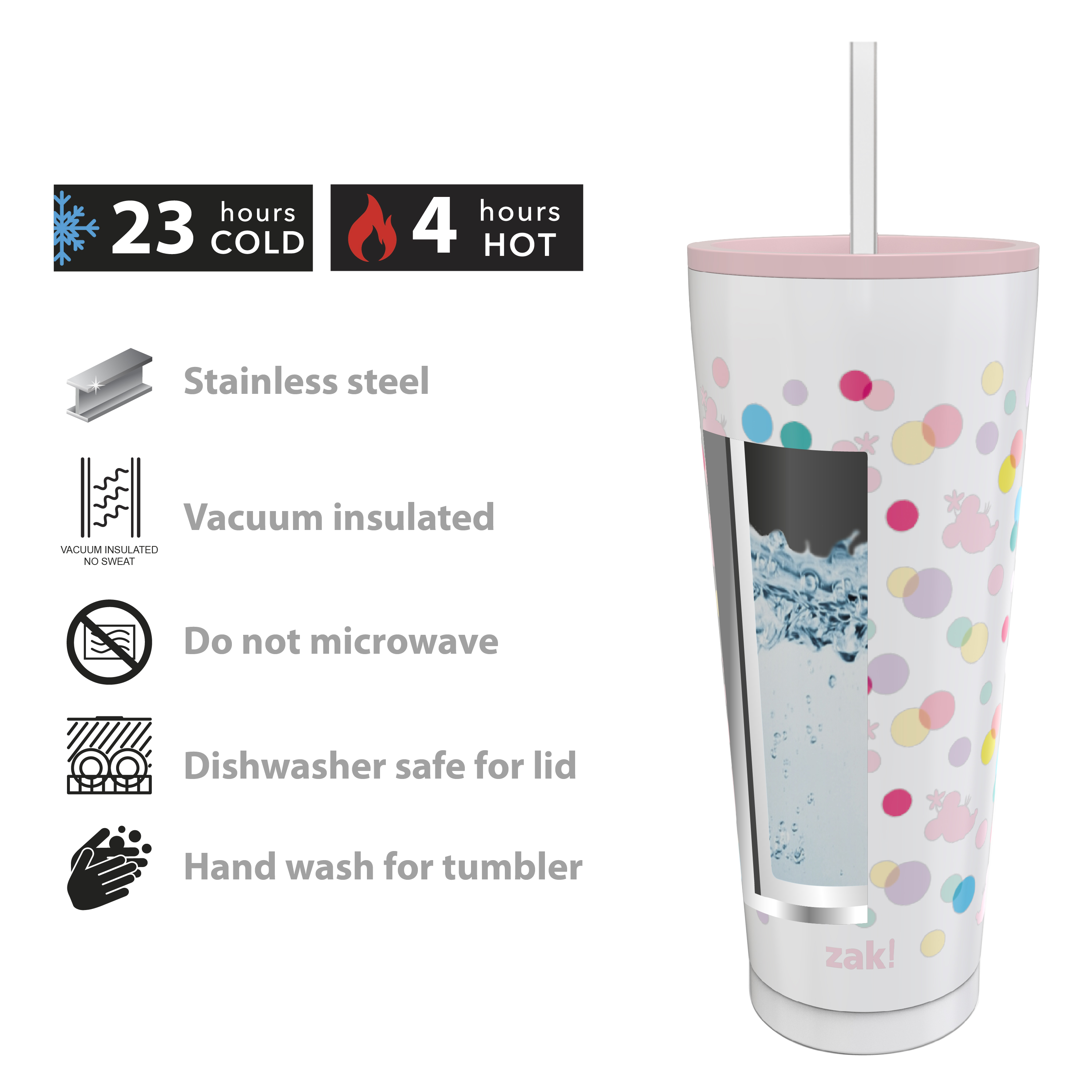Disney 25 ounce Reusable Water Bottle, Minnie Mouse Polka Dots slideshow image 5