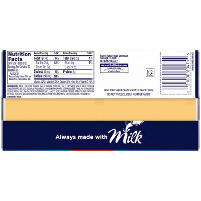 Kraft Singles American Cheese Slices, 24 oz Twin Pack (32 slices)