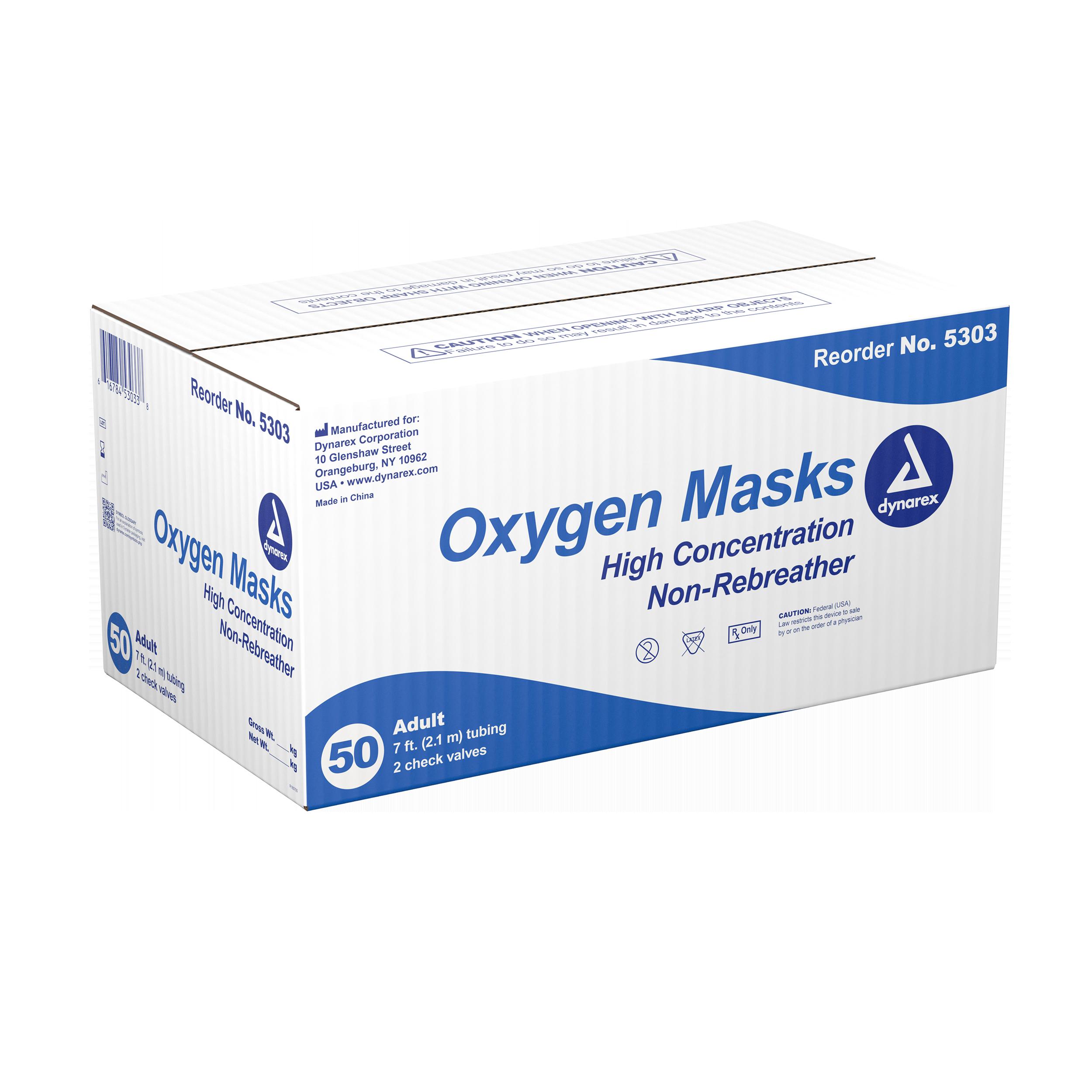 Oxygen Mask Elongated - Adult-high Concentration - 50/Cs