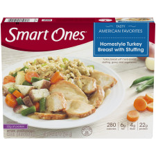 Weight Watchers Smart Ones Home style Turkey Breast with Stuffing 9 oz Box