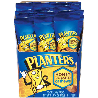 Planters Honey Roast Cashews 15 - 2 oz Bags