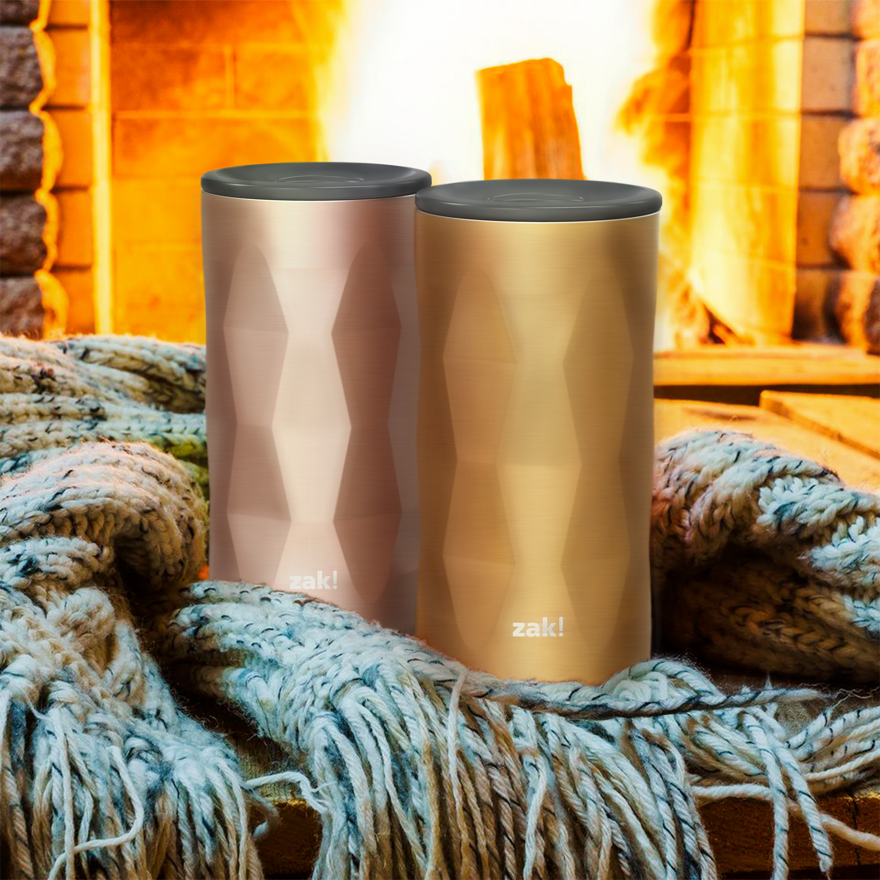 Fractal 12 ounce Vacuum Insulated Stainless Steel Tumbler, Copper slideshow image 3