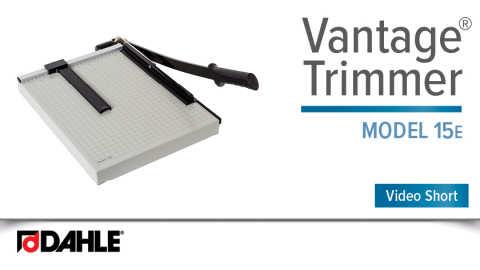 Dahle Vantage® 15e Trimmer Video
