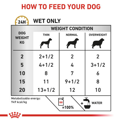 Canine Urinary S/O Ageing 7+ (in loaf) feeding guide
