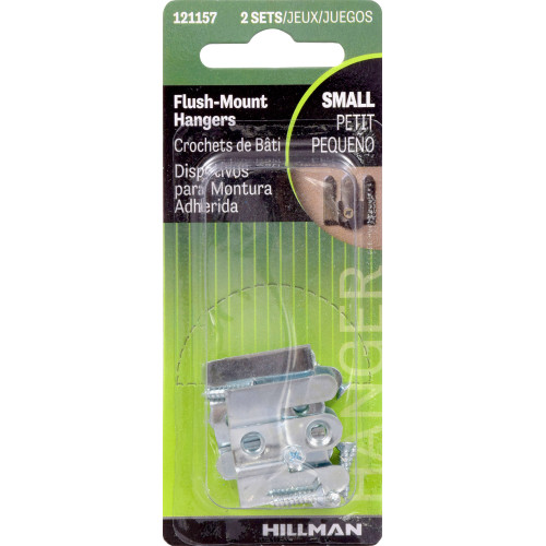 Hillman Flush Mount 1 Inch x 1 Inch Hangers Set of 2